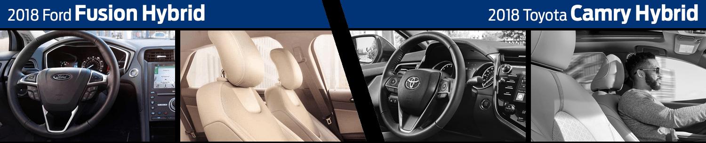 2018 Ford Fusion Hybrid vs 2018 Toyota Camry Hybrid Interior Model Comparison
