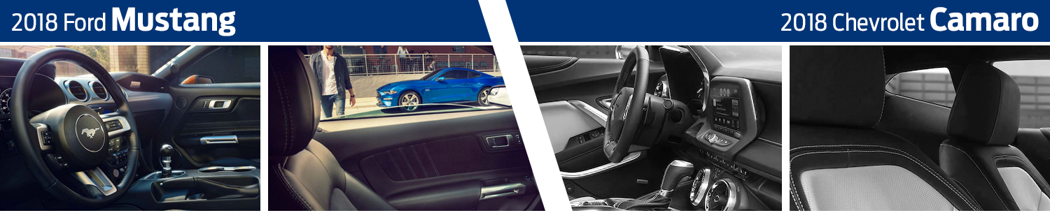 2018 Ford Mustang vs 2018 Chevrolet Camaro Interior Design Comparison