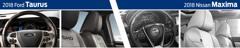 2018 Ford Taurus vs 2018 Nissan Maxima Interior Comparison