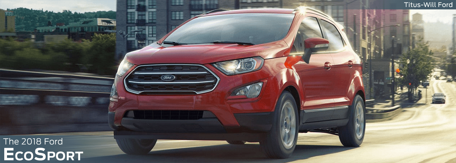 2018 Ford EcoSport model features, specs and technology information