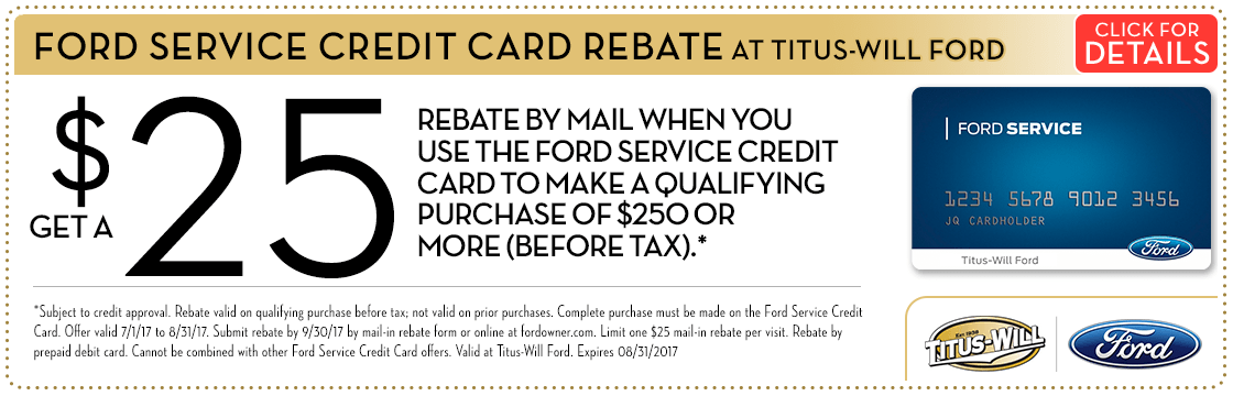 Ford Service Credit Card Offer at Titus-Will Ford in Tacoma, WA