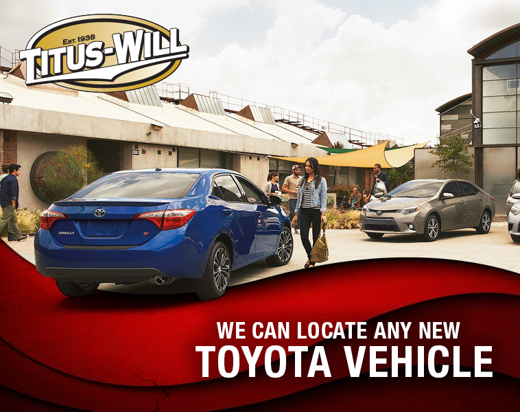 Titus-Will Toyota Official New Toyota Locator Service