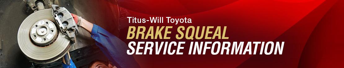Toyota Brake Squeal Service Information