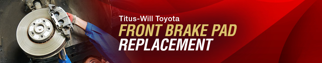 Toyota Front Brake Pad Replacement Service Information