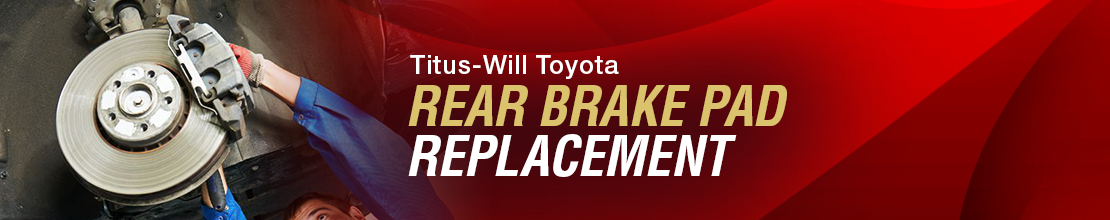Toyota Rear Brake Pad Replacement Service Information