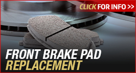 Click to View Information about our Toyota Front Brake Pad Replacement Service