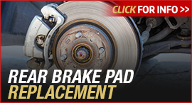 Click to View Information about our Toyota Rear Brake Pad Replacement Service
