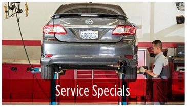 View our current service specials available at Titus-Will Toyota