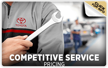Browse our competitive pricing service information at Titus Will Toyota in Tacoma, WA