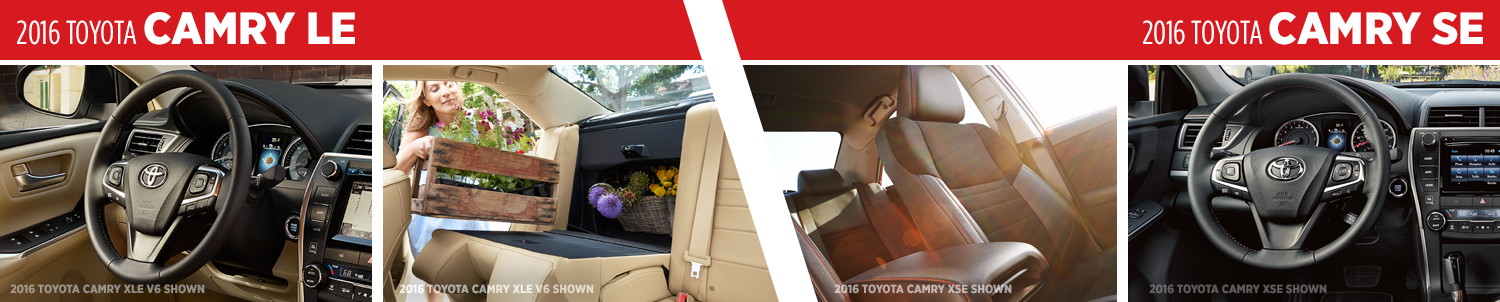 2016 Toyota Camry LE VS Camry SE Interior Styling