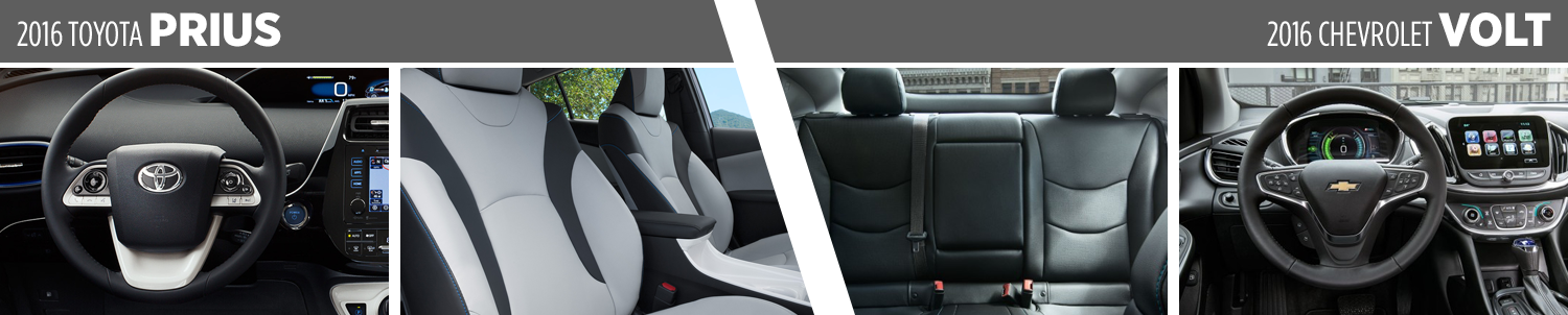 Compare the Interior of the 2016 Toyota Prius vs the Chevy Volt at Titus-Will Toyota