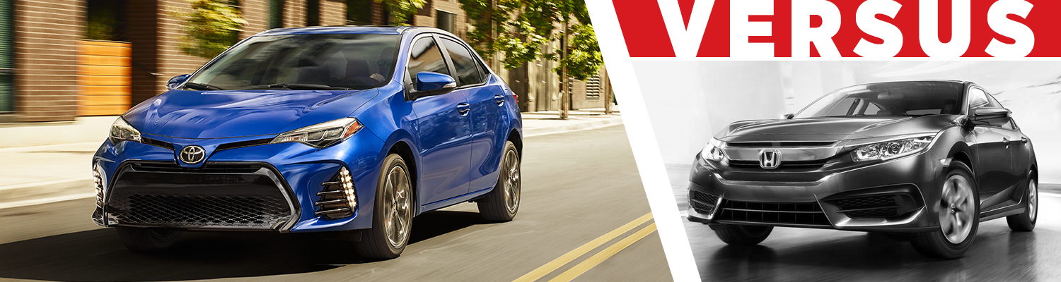 Compare 2017 Toyota Corolla vs Honda Civic Models