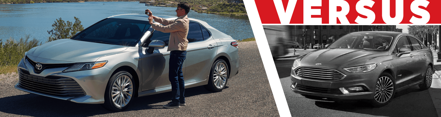 Compare the 2018 Toyota Camry Hybrid & 2018 Ford Fusion Hybrid models at Titus Will Toyota in Tacoma, WA