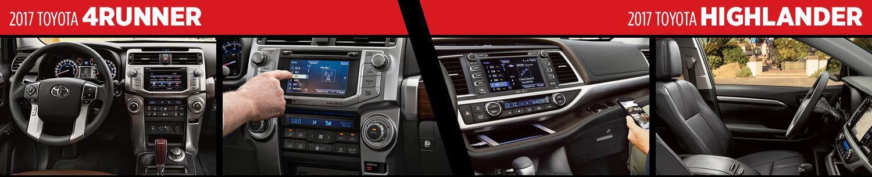 Compare 2017 Toyota 4Runner vs Highlander Interiors