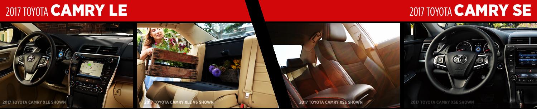 Compare 2017 Toyota Camry LE vs Camry SE Interior Styles