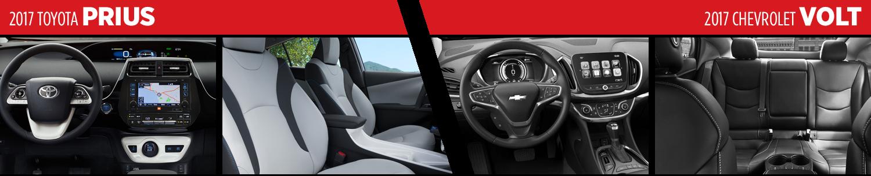 Compare 2017 Toyota Prius vs Chevrolet Volt Interior Styles