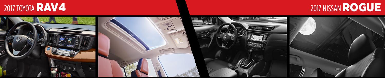 Compare 2017 Toyota RAV4 vs Nissan Rogue Interior Styles