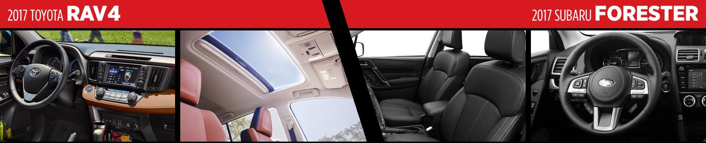 Compare 2017 Toyota RAV4 vs Subaru Forester Interior Styles