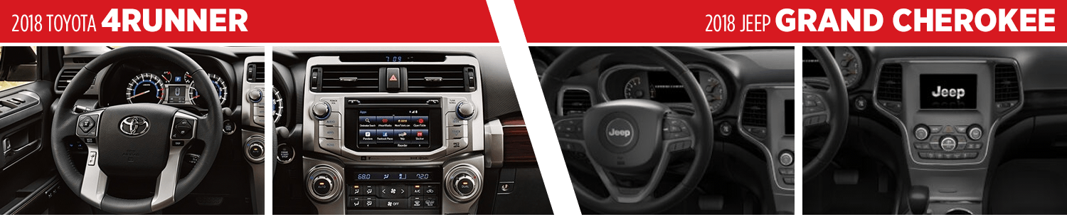 2018 Toyota 4Runner VS 2018 Jeep Grand Cherokee Interior Comparison