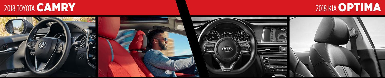 2018 Toyota Camry VS 2018 KIA Optima Interior Comparison