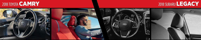 2018 Toyota Camry vs 2018 Subaru Legacy Interior Comparison