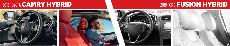 2018 Toyota Camry Hybrid VS 2018 Ford Fusion Hybrid Interior Comparison