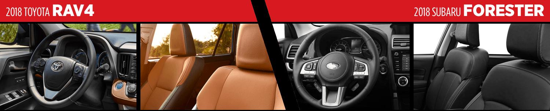 2018 Toyota RAV4 VS 2018 Subaru Forester Interior Comparison