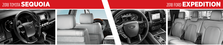 2018 Toyota Sequoia VS 2018 Ford Expedition Interior Comparison