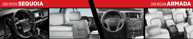 2018 Toyota Sequoia VS 2018 Nissan Armada Interior Comparison