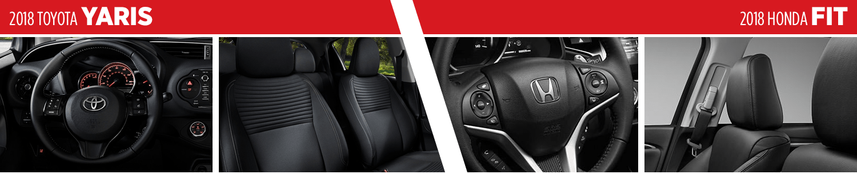 2018 Toyota Yaris vs 2018 Honda Fit Interior Feature Comparison