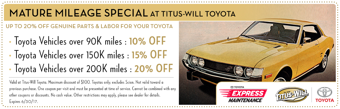 Complete Brake Service special at Titus-Will Toyota in Tacoma, WA