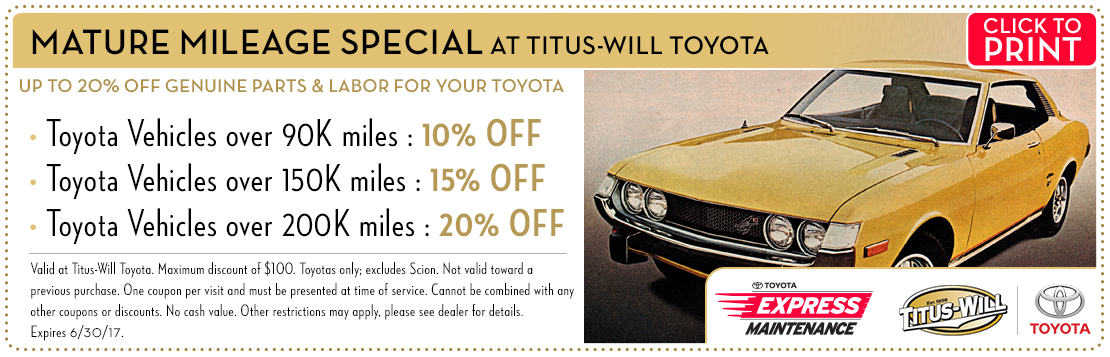 Click to print this Complete Brake Service special from Titus-Will Toyota