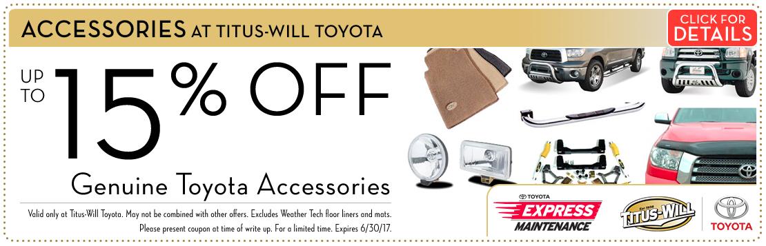 Genuine Toyota Accessory Special savings Serving Tacoma, WA