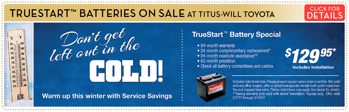 Click to View Our TrueStart Battery Service Special in Tacoma, WA