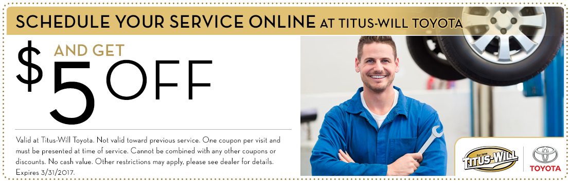 Schedule a Service Appointment Online and Save at Titus-Will Toyota in Tacoma, WA