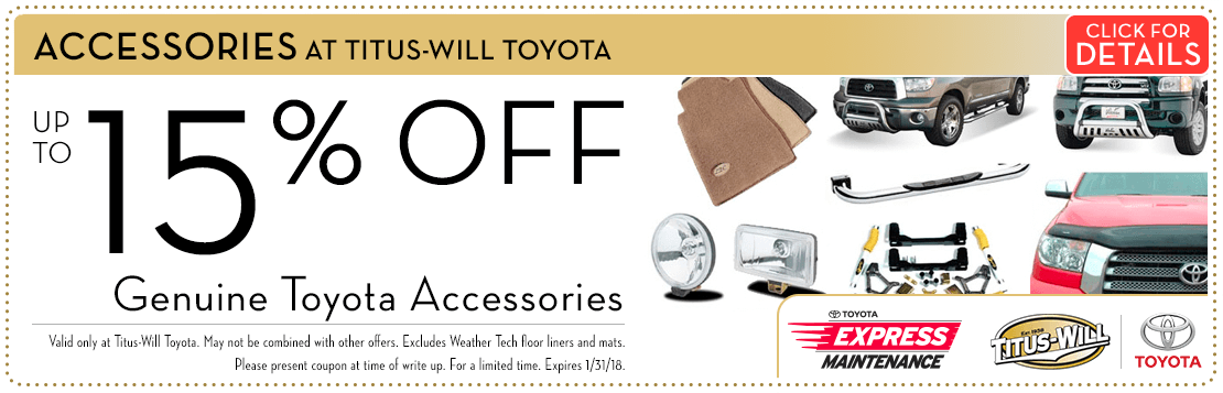 Genuine Toyota Accessory Special savings Serving Tacoma, WA