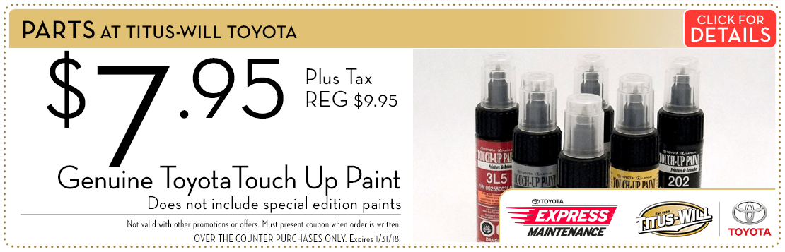 Toyota Touch Up Paint Special savings Serving Tacoma, WA