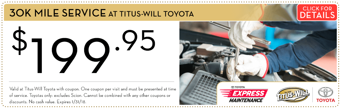Toyota 30K-Mile Service Special Savings Serving Tacoma, WA. Click for Details.