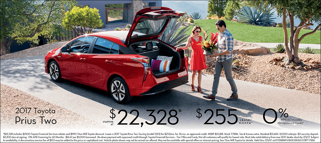 2017 Toyota Prius Two Special Sales Offer in Tacoma, WA