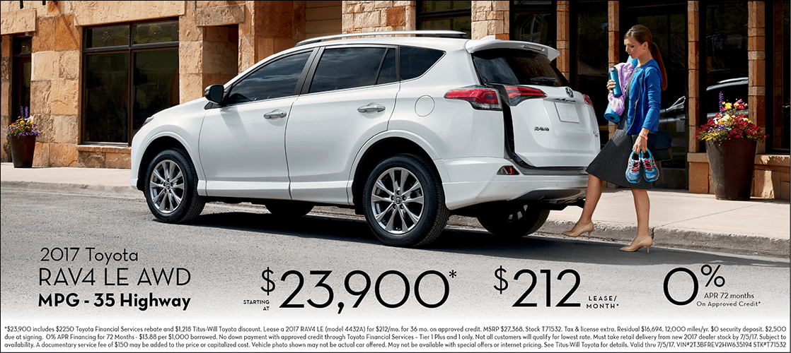 2017 Toyota RAV4 LE w/ All-Wheel Drive Special Sales Offers in Tacoma, WA