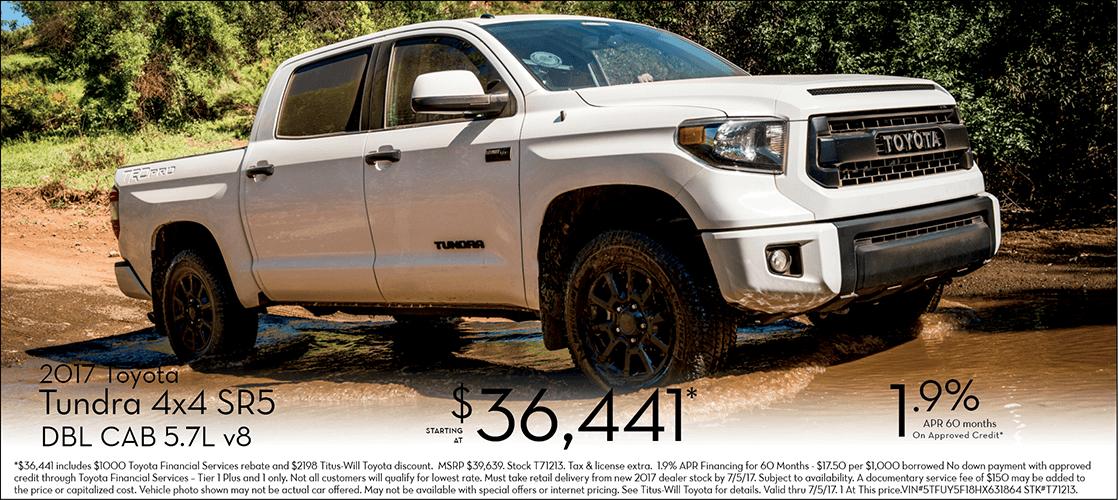 2017 Toyota Tundra SR5 w/ 4-Wheel Drive Special Sales Offers in Tacoma, WA