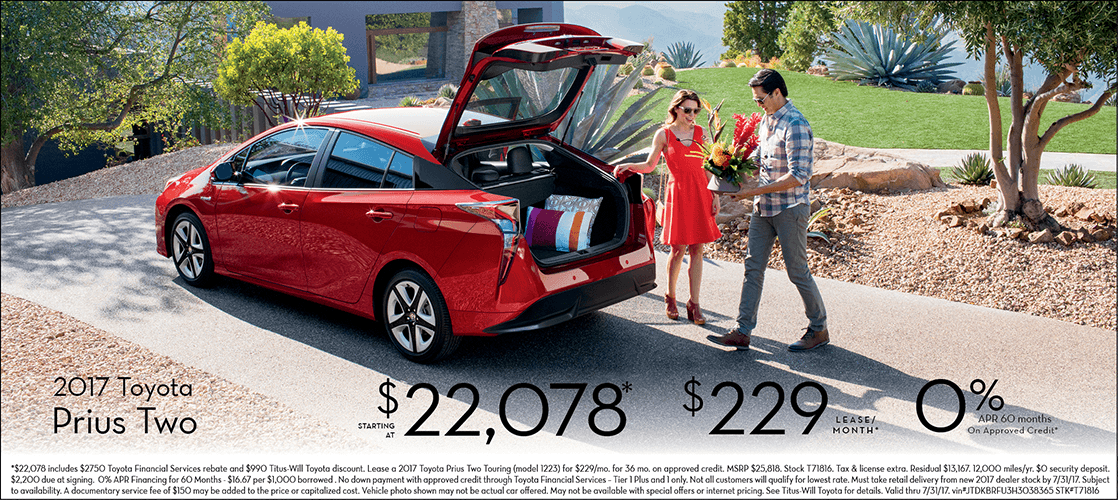 2017 Toyota Prius Two Special Sales Offers in Tacoma, WA