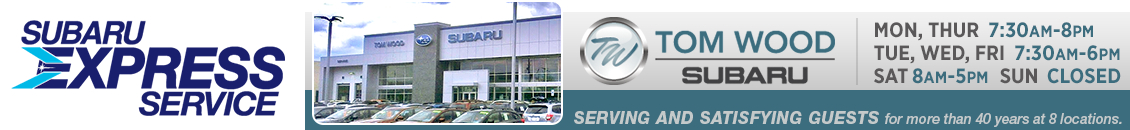 Save time and money at Tom Wood Subaru in Indianapolis, IN with Subaru Express Service