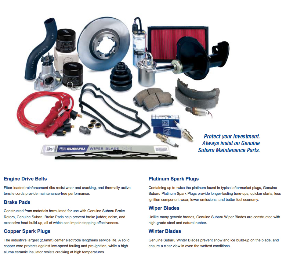 Find Out Why Choosing Genuine Subaru Maintenance Parts Is