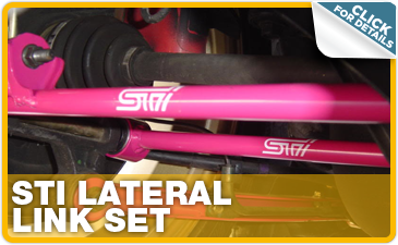 Click to research Subaru STI lateral link set performance parts in Indianapolis, IN