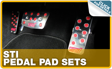 Click to research Subaru STI pedal pads performance parts in Indianapolis, IN