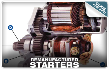Remanufactured Starters at Tom Wood