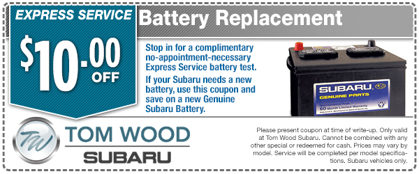 Express Service Battery Replacement Special Service Savings