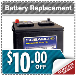 Click here to save with this outstanding special discount offer on Subaru Express Service Battery Replacement service in Indianapolis, IN