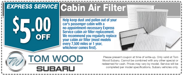 Express Service Cabin Air Filter Special Service Savings